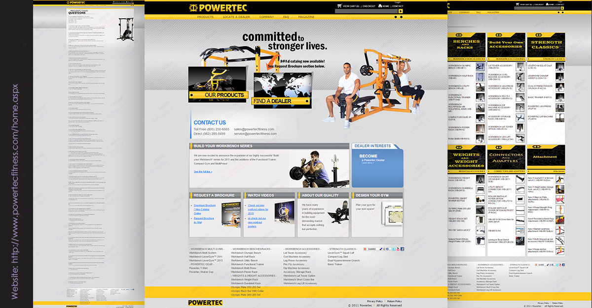 Fitness Website Development