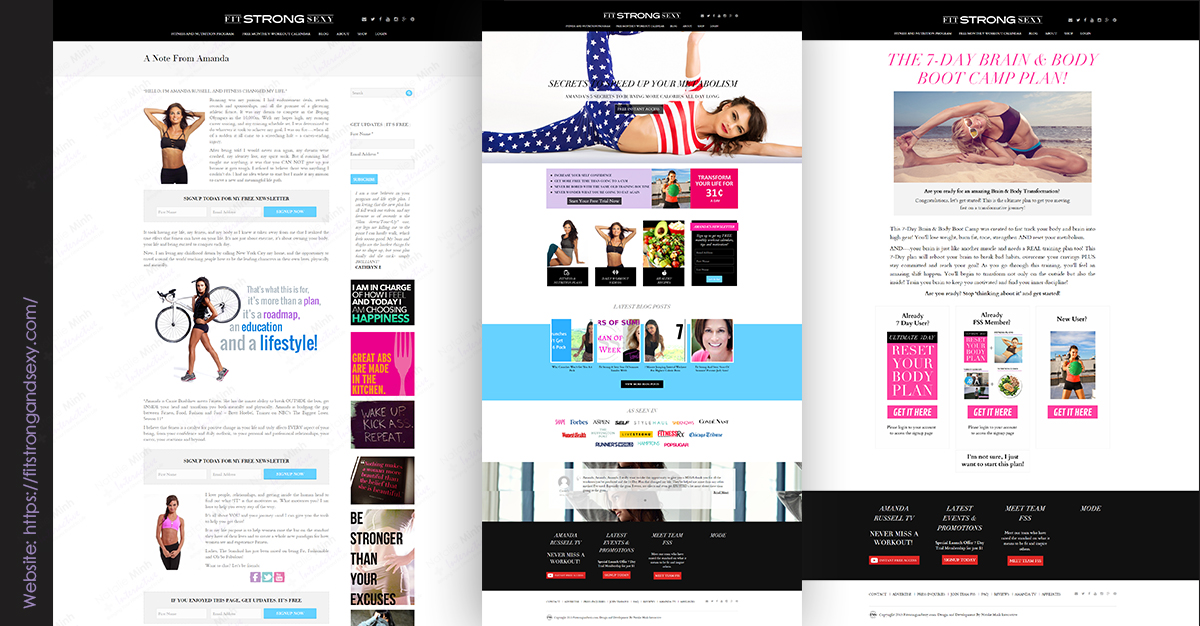 Fit Strong and Sexy Fitness Website Design