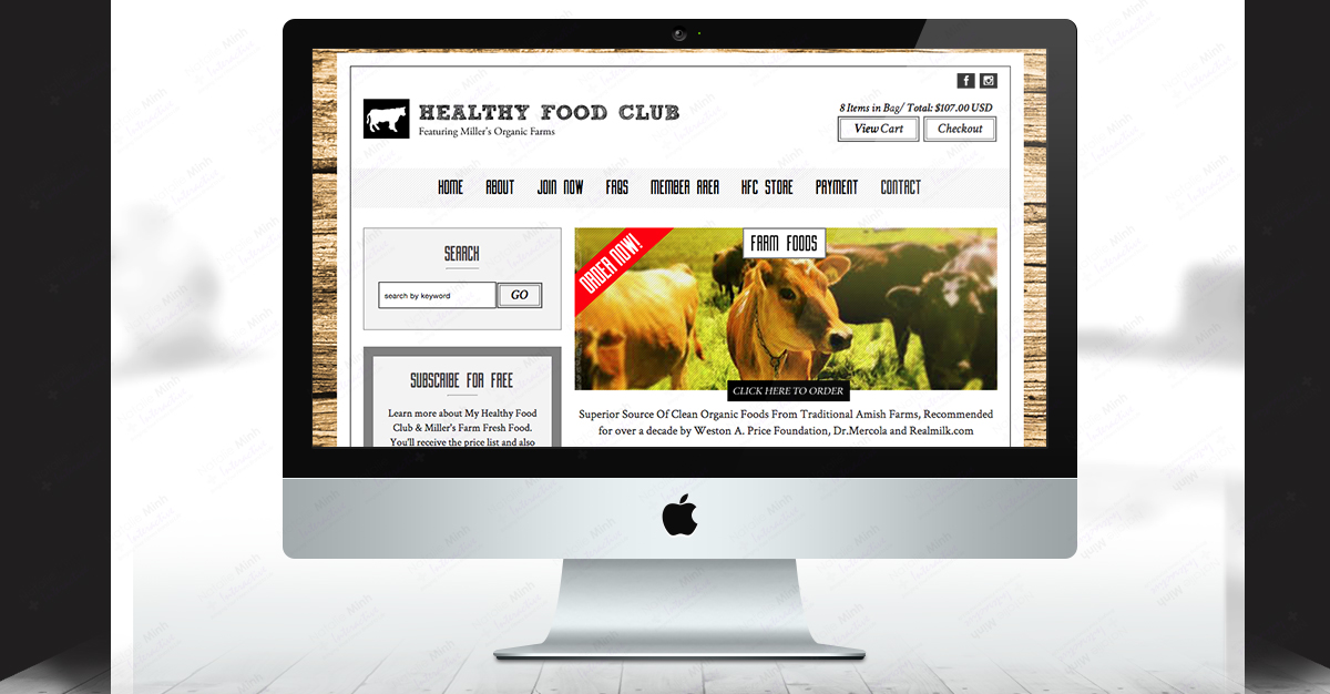 Healthy Food Club Fitness Website Redesign