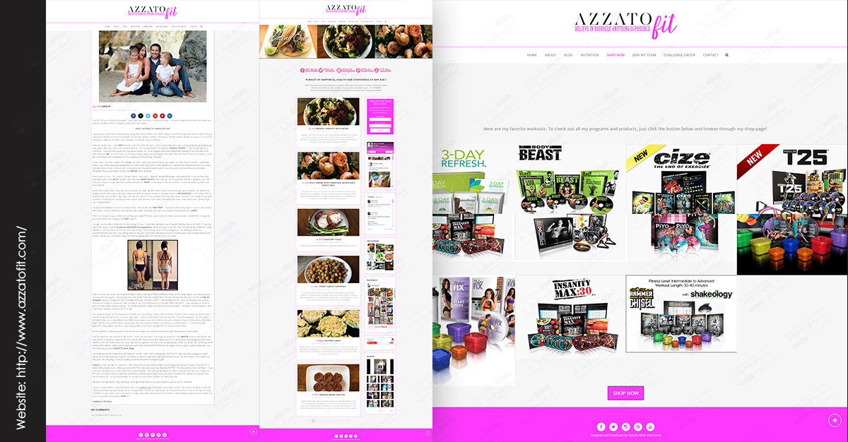 Amy Azzato Fitness Website Design