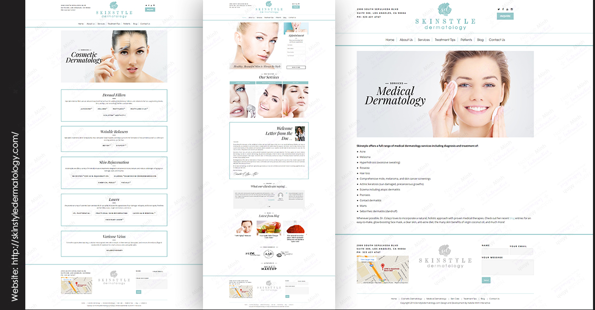 Skin Dermatology Fitness Website Design