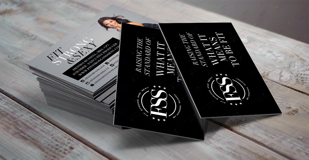 Fit Strong and Sexy Business Card Design