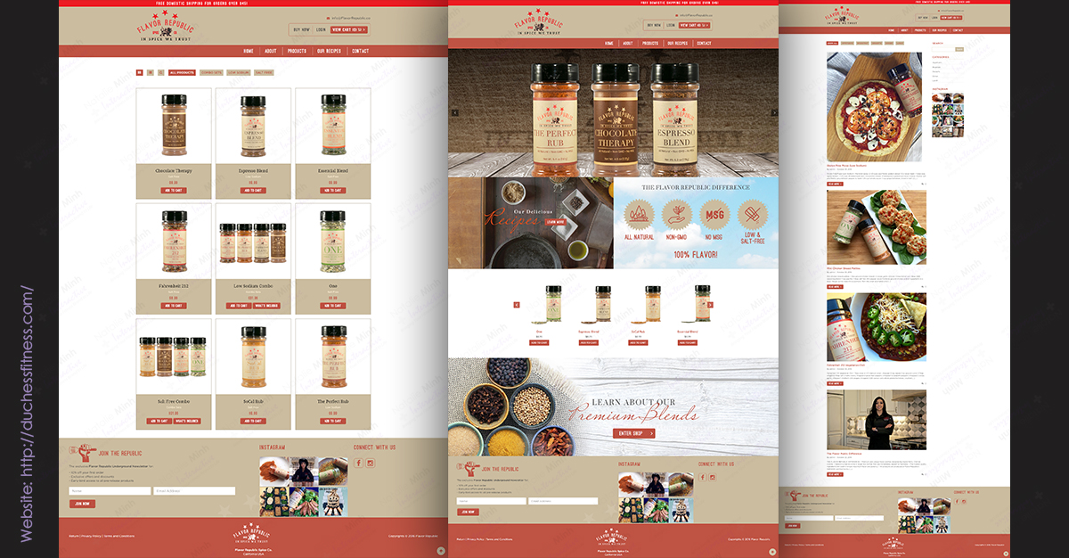 Flavor Republic Custom Website Development