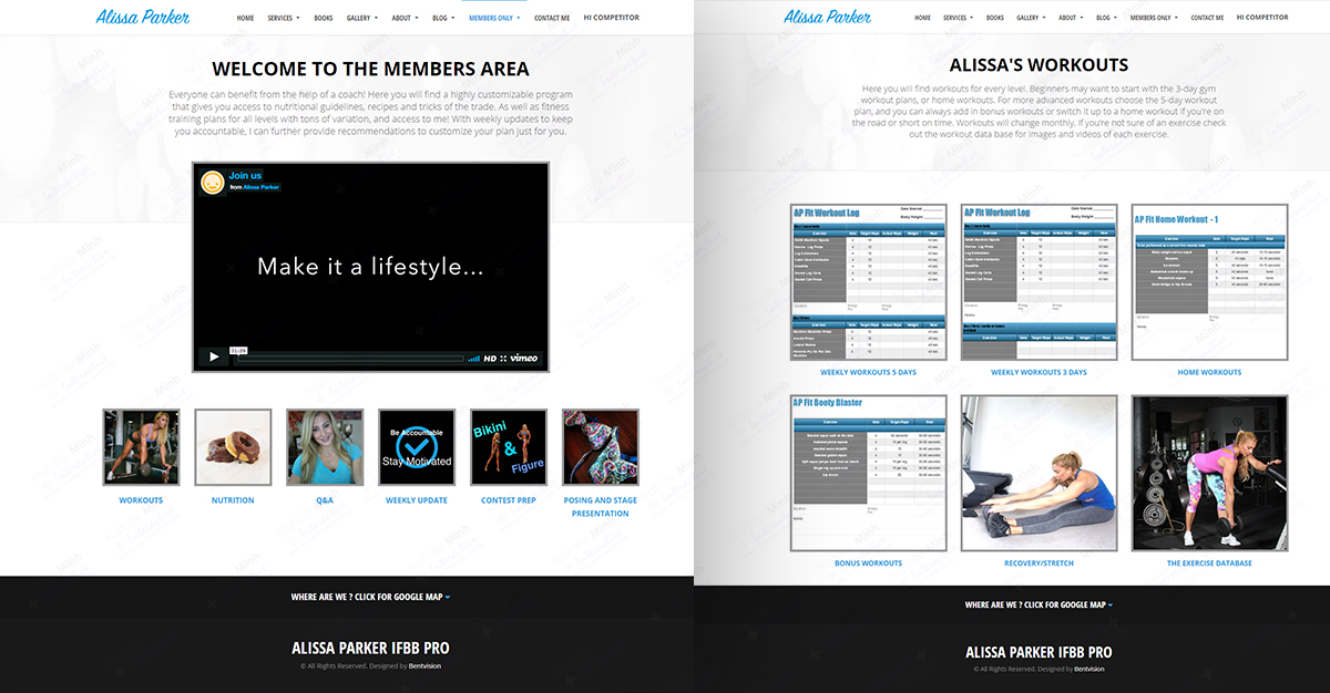 Alissa Parker Membership Website Design