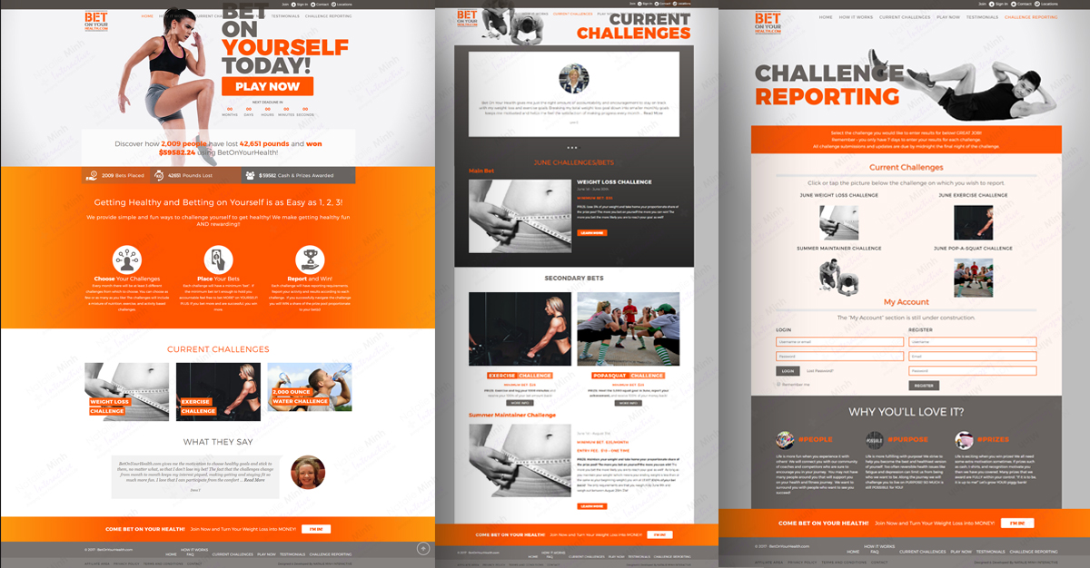 Bet on Your Health Fitness Website Design