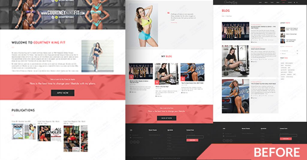 Courtney King Fitness Website Design