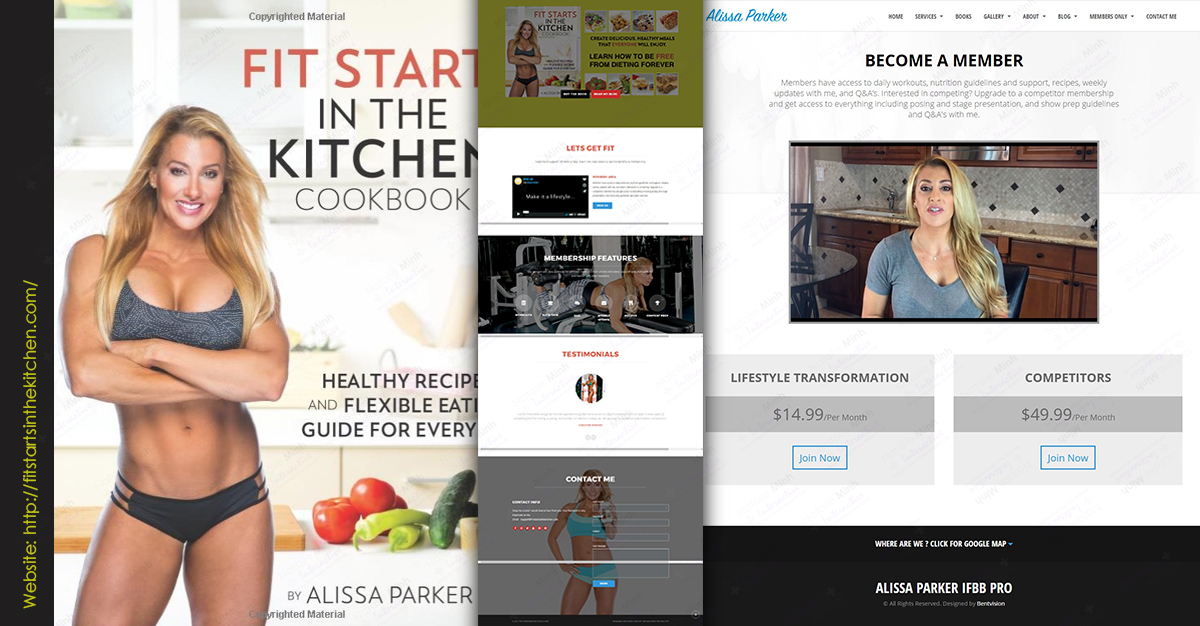 Fit Starts in the Kitchen Fitness Website