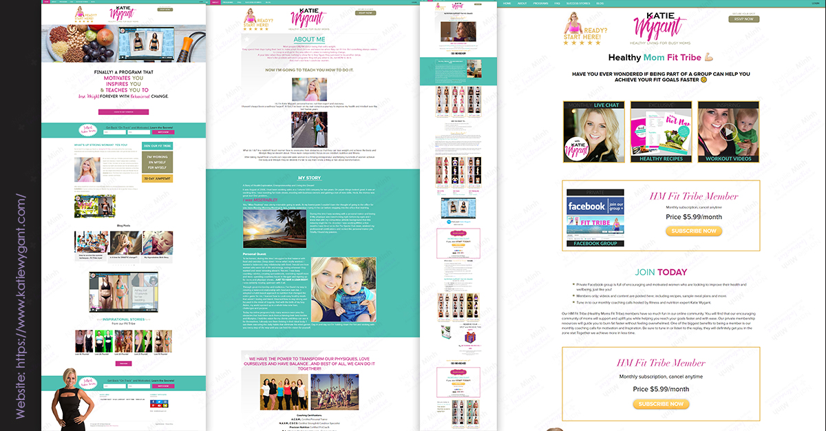 Katie Wygant Fitness Website Design