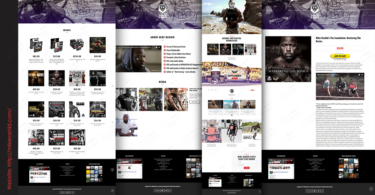 Mike Rashid Website Design