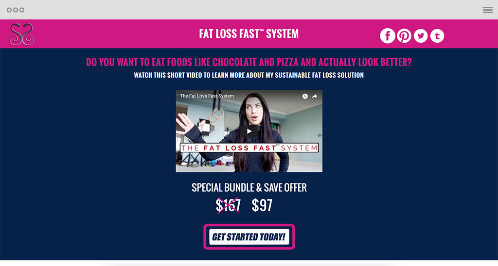 FAT LOSS FAST – SALES PAGE