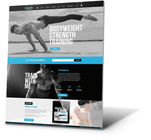 Simonster Strength Fitness Website Design