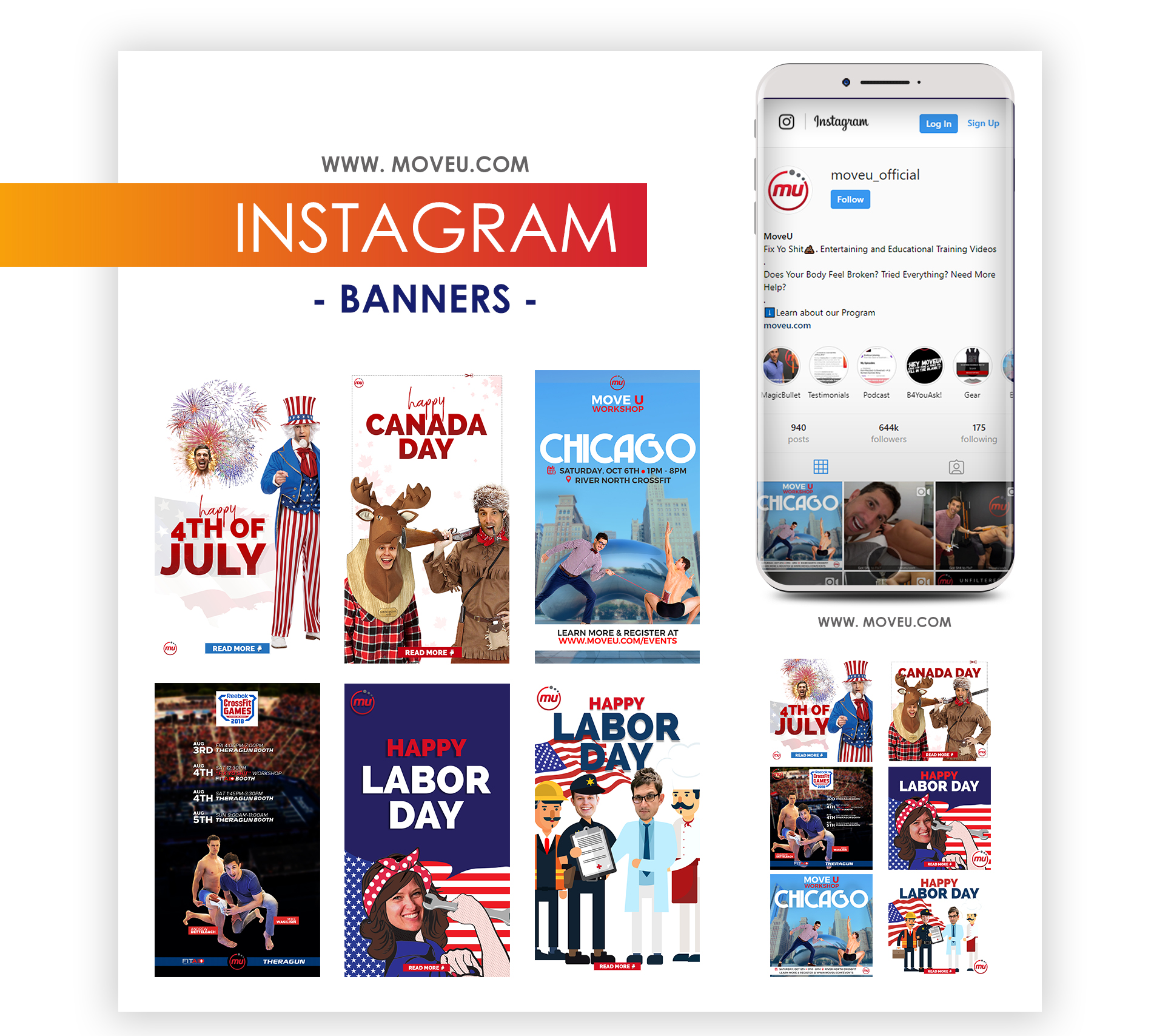 MoveU Instagram Banners Graphic Design