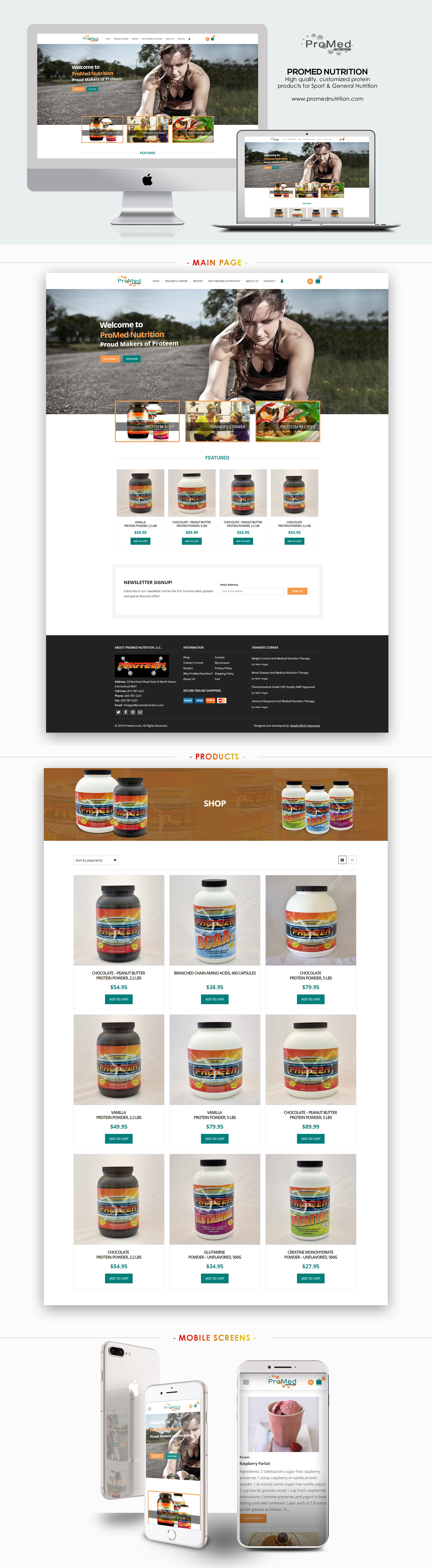 ProMed Nutrition Website Design