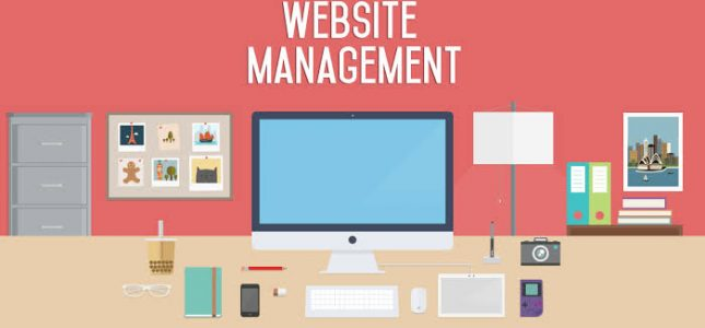 website management header