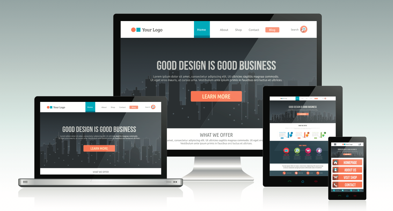 responsive website for redesign
