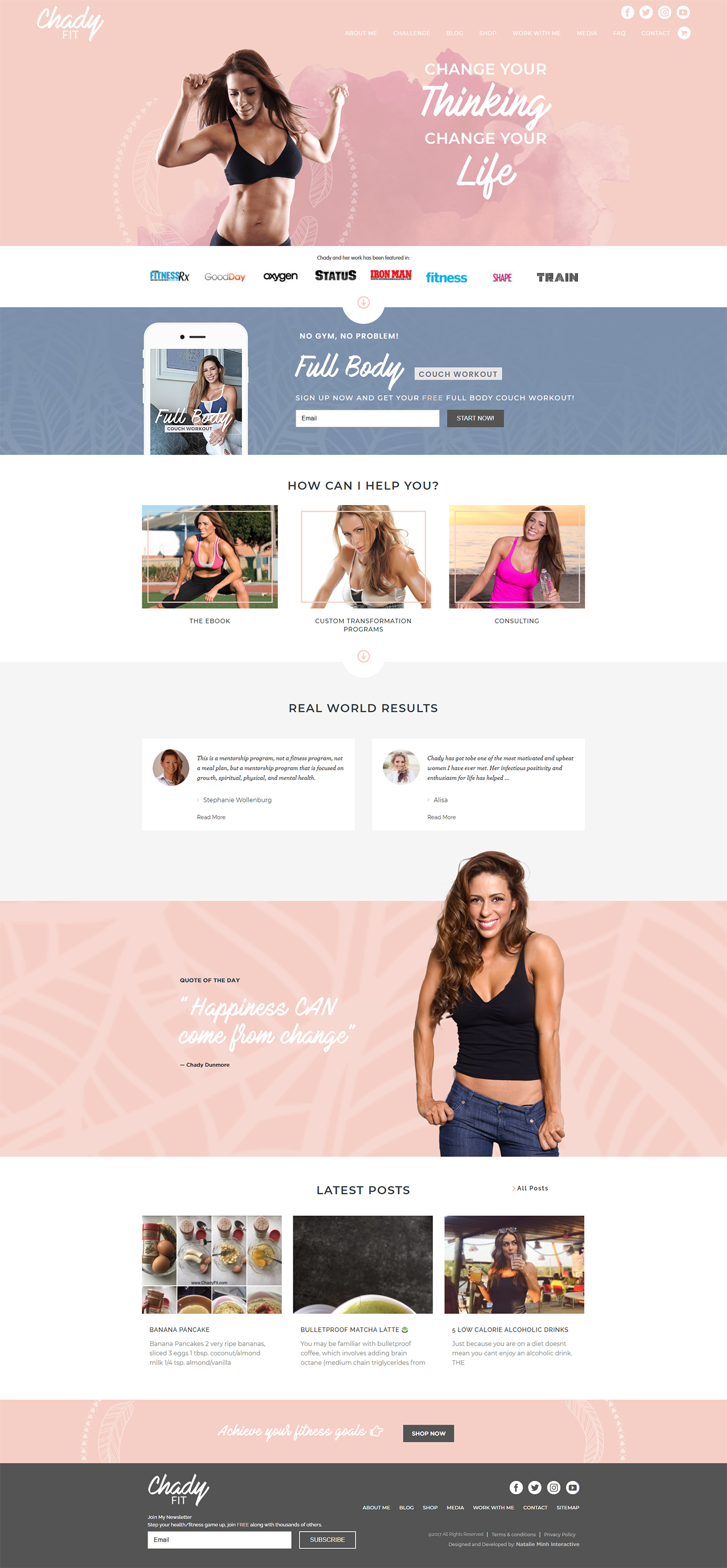 Chady Fit Homepage
