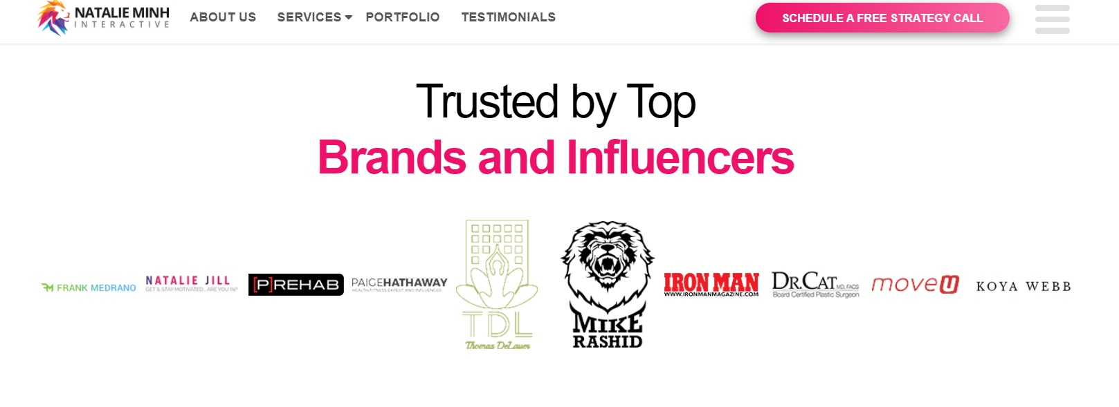 Influencers and Top Brands You Work With